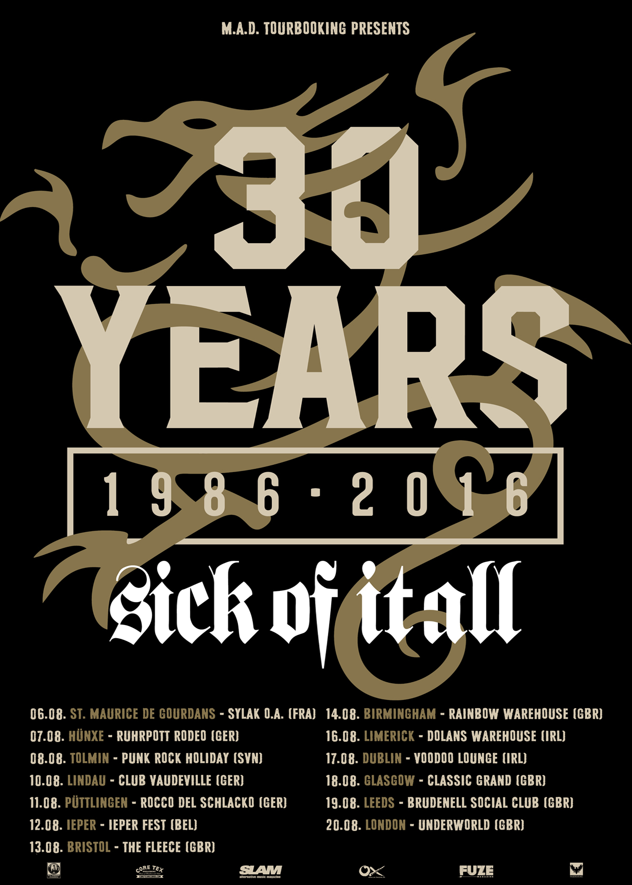 Kicking off another European run for the 30th Anniversary