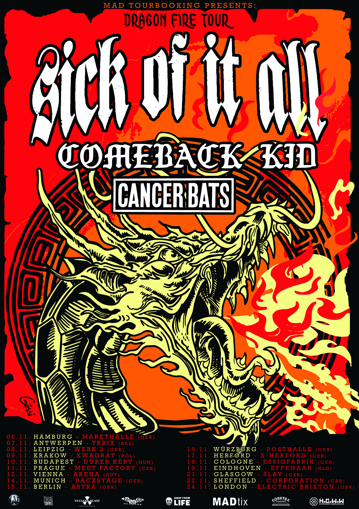 Europe with Comeback Kid & Cancer Bats