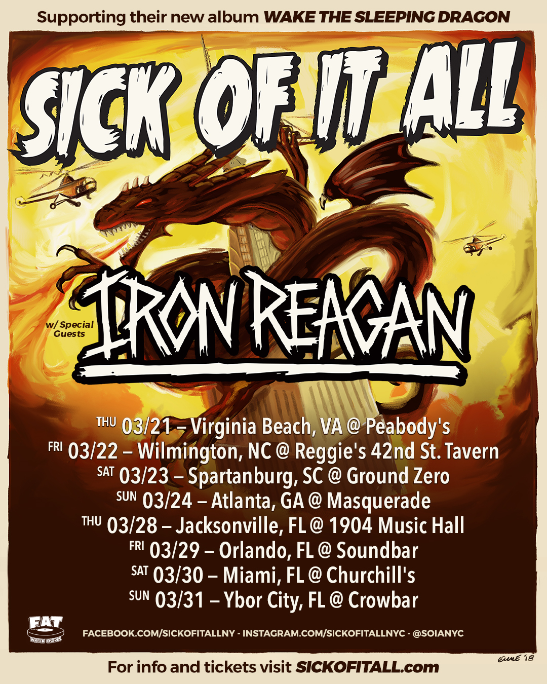 Tour with Iron Reagan in March announced