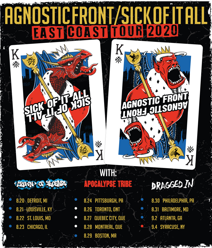 New dates for East Coast with Agnostic Front