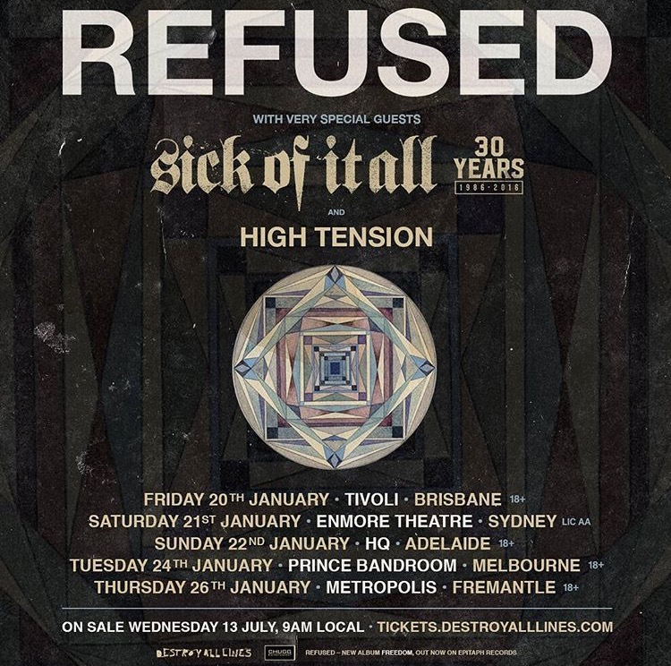 Down Under with Refused
