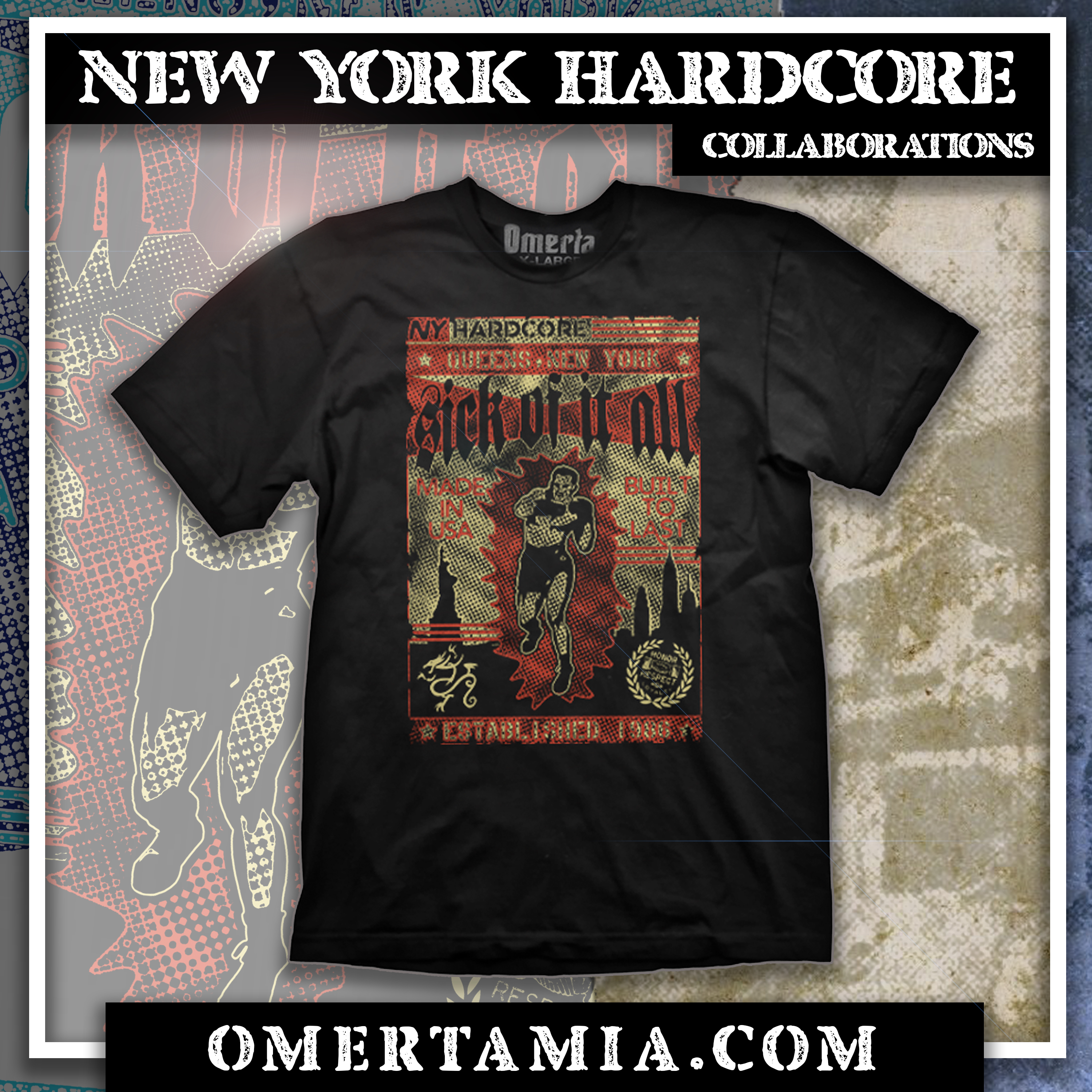 Sick Of It All x Omerta collaboration!
